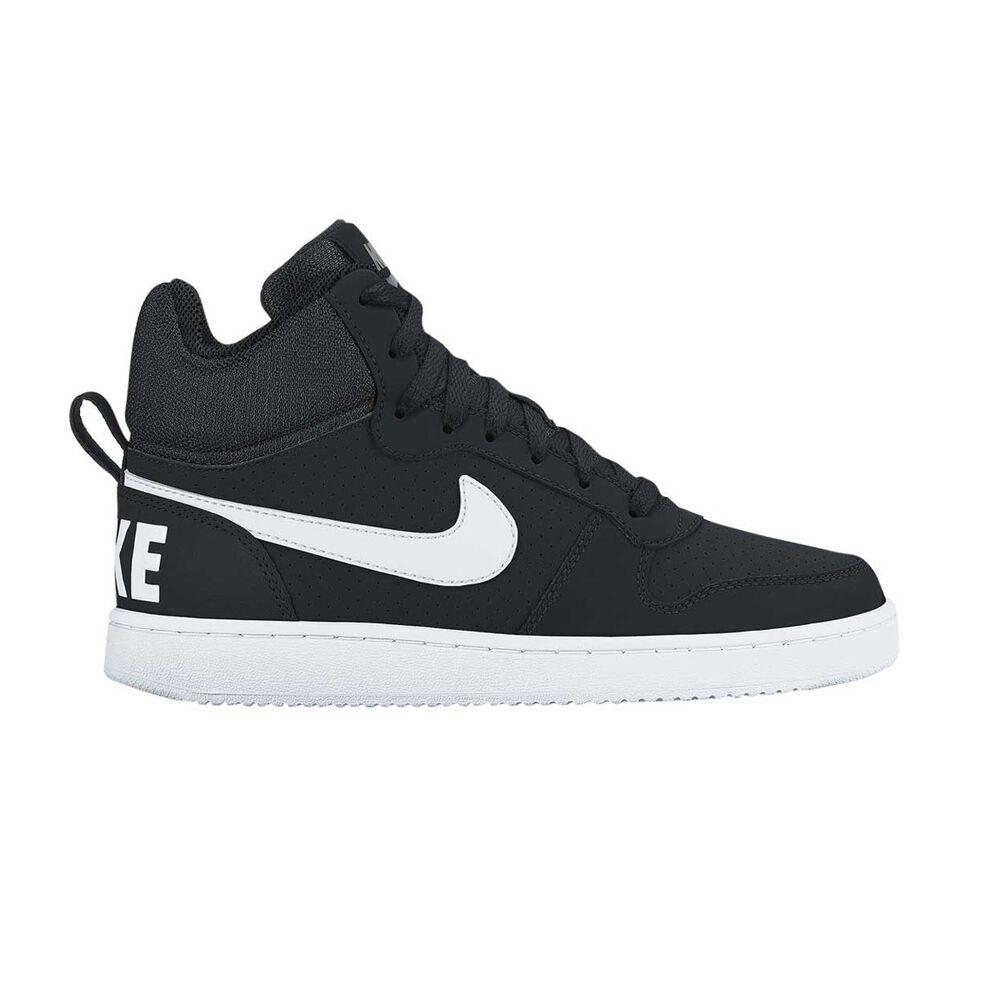 Nike Court Borough Mid Mens Casual Shoes Black   White US 7  998ddcfba