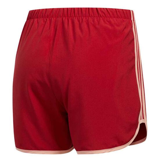 adidas Womens Marathon 20 Running Shorts, Red, rebel_hi-res