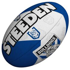 Steeden NRL Canterbury Bulldogs 11 Inch Supporter Rugby League Ball Blue/White 11 Inch, , rebel_hi-res