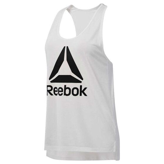 Reebok Womens Workout Ready Supremium 2.0 Tank, White, rebel_hi-res