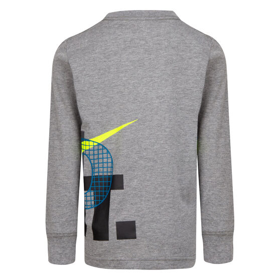Nike Boys LS Graphic Tee, Grey, rebel_hi-res