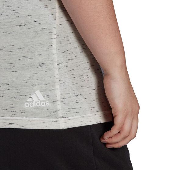 adidas Womens Sportswear Winners 2.0 Tee Plus, White, rebel_hi-res