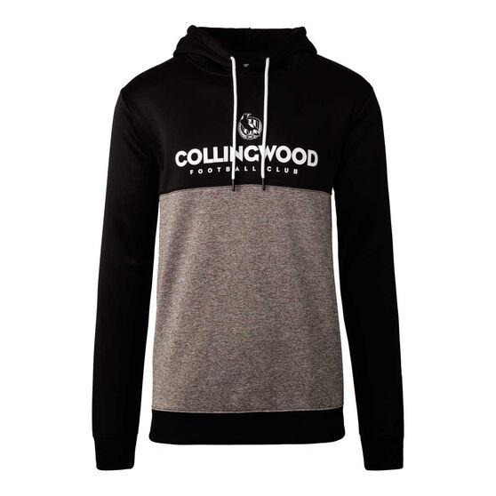 Collingwood Magpies 2020 Mens Ultra Hoodie, Black/Grey, rebel_hi-res