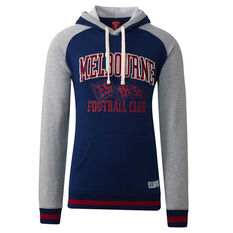 Melbourne Demons Mens Collegiate Pullover Hoodie Blue S, Blue, rebel_hi-res
