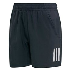adidas Boys 3-Stripes Tennis Club Shorts Black / White 10, Black / White, rebel_hi-res