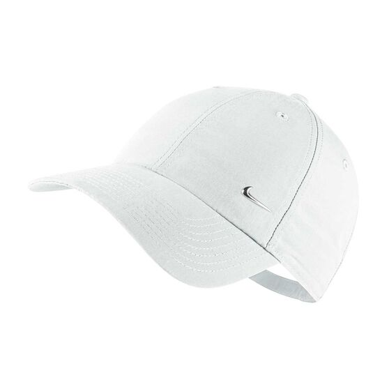 6904bd97e8271 Nike Sportswear Metal Swoosh Heritage 86 Cap White   Silver OSFA ...