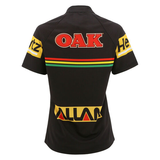 Penrith Panthers 2021 Womens Home Jersey, Black, rebel_hi-res