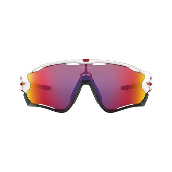 OAKLEY Jawbreaker Sunglasses - Polished White with PRIZM Road, , rebel_hi-res