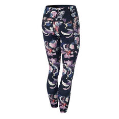Ell & Voo Womens Kara Pocket 7/8 Tights Print XS, Print, rebel_hi-res