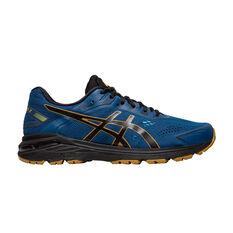 Asics GT 2000 7 Trail 2E Mens Trail Running Shoes Blue / Black US 7, Blue / Black, rebel_hi-res