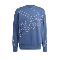 adidas Mens Giant Logo Sweatshirt, Blue, rebel_hi-res