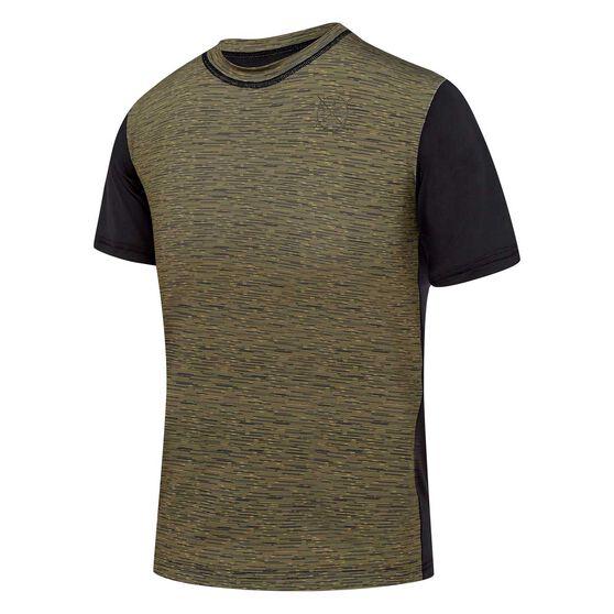 Speedo Boys Salty Rash Vest, Black / Grey, rebel_hi-res