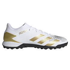 adidas Predator 20.3 Low Touch and Turf Boots White/Gold US Mens 7 / Womens 8, White/Gold, rebel_hi-res
