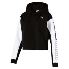 Puma Womens Modern Sport Hoodie Black XS, Black, rebel_hi-res