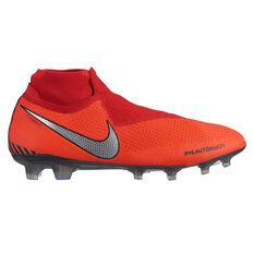 Nike Phantom Vision Elite Dynamic Fit Mens Football Boots Red / Silver US Mens 7 / Womens 8.5, Red / Silver, rebel_hi-res