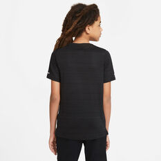 Nike Boys Dri Fit Miler Tee, Black, rebel_hi-res