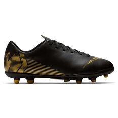 Nike Mercurial Vapor XII Club Kids Football Boots Black / Gold US 1, Black / Gold, rebel_hi-res