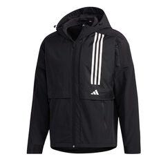 adidas Mens Colourblock Windbreaker Black XS, Black, rebel_hi-res