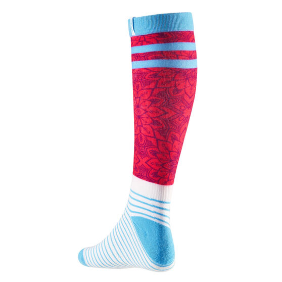 Tahwalhi Girls Mandala Ski Socks, , rebel_hi-res