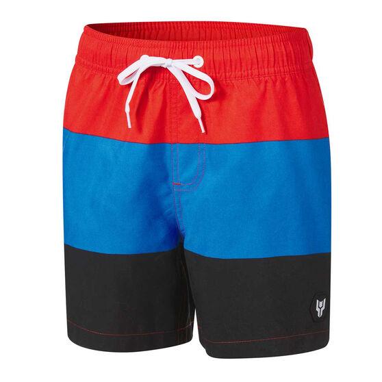 Tahwalhi Boys Board Shorts, Red, rebel_hi-res