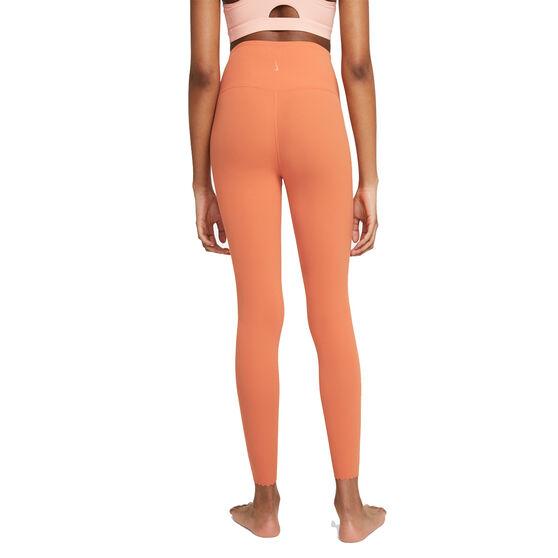 Nike Yoga Womens Luxe High-Waisted 7/8 Tights, Orange, rebel_hi-res