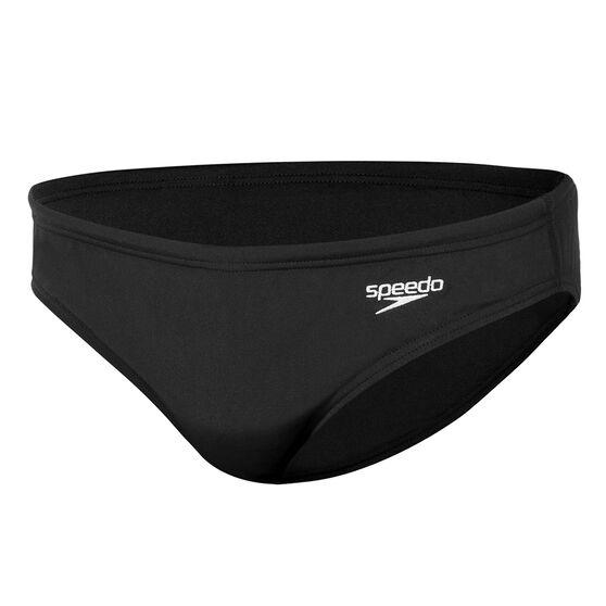 Speedo Boys Endurance Swim Brief Black 8, Black, rebel_hi-res