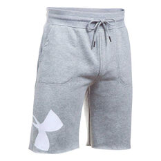 Under Armour Mens Rival Fleece Exploded Logo Shorts Grey S Adult, Grey, rebel_hi-res