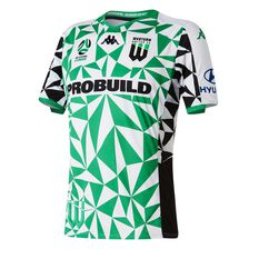Western United 2019/20 Mens Away Jersey Green / White S, Green / White, rebel_hi-res