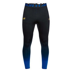 Under Armour Curry Seamless 3 / 4 Tights Black / Blue S, Black / Blue, rebel_hi-res