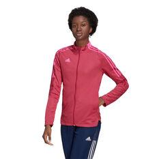 adidas Womens Tiro 21 Track Jacket Pink XS, Pink, rebel_hi-res