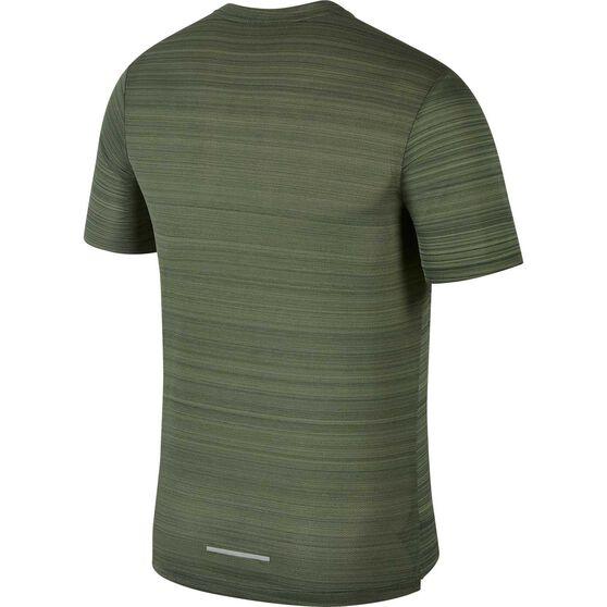 Nike Mens Dri-FIT Miler Short-Sleeve Running Top, Green, rebel_hi-res