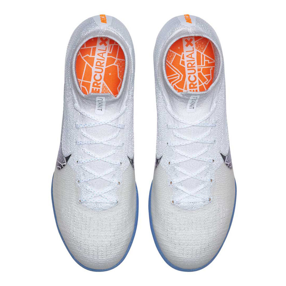 9cb0f40a8 Nike Mercurial Superflyx VI Elite Mens Indoor Soccer Shoes White / Grey US  7, White