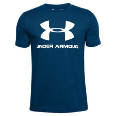 Under Armour Boys Sportstyle Tee, Blue, rebel_hi-res