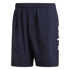 adidas Mens Essentials Linear Chelsea Shorts Navy S, Navy, rebel_hi-res