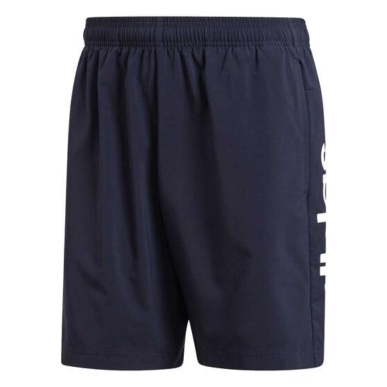 adidas Mens Essentials Linear Chelsea Shorts, Navy, rebel_hi-res