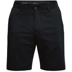 Under Armour Mens Showdown Golf Shorts Black 30in, Black, rebel_hi-res