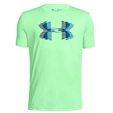 f032f888 Under Armour Boys Tech Big Logo Solid Tee Green XS, Green, rebel_hi-res