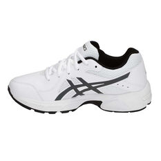 ba52a5905070 ... Asics Gel 195TR Leather Boys Running Shoes White   Grey US 1