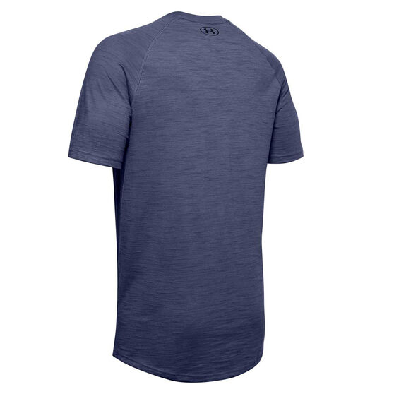 Under Armour Mens Charged Cotton Tee, Blue, rebel_hi-res