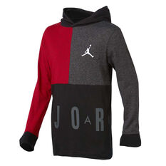 Nike Boys Jordan Long Sleeve Hooded Tee Black S, Black, rebel_hi-res