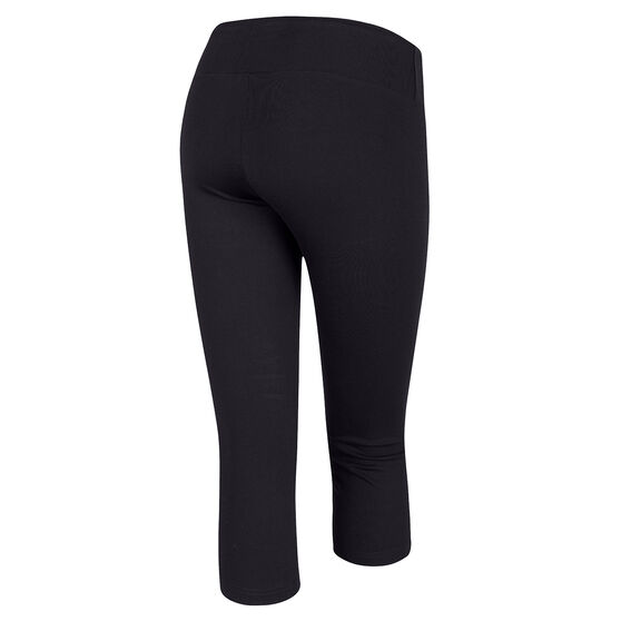 Running Bare Womens 3 / 4 Tights, Black, rebel_hi-res