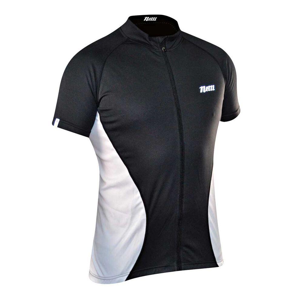Netti Mens Cruze Cycling Jersey Black   White S  5e5f3b1b6