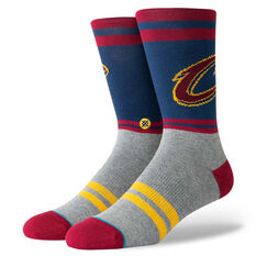Stance Mens Cleveland Cavaliers City Gym Socks Navy / Red M, Navy / Red, rebel_hi-res