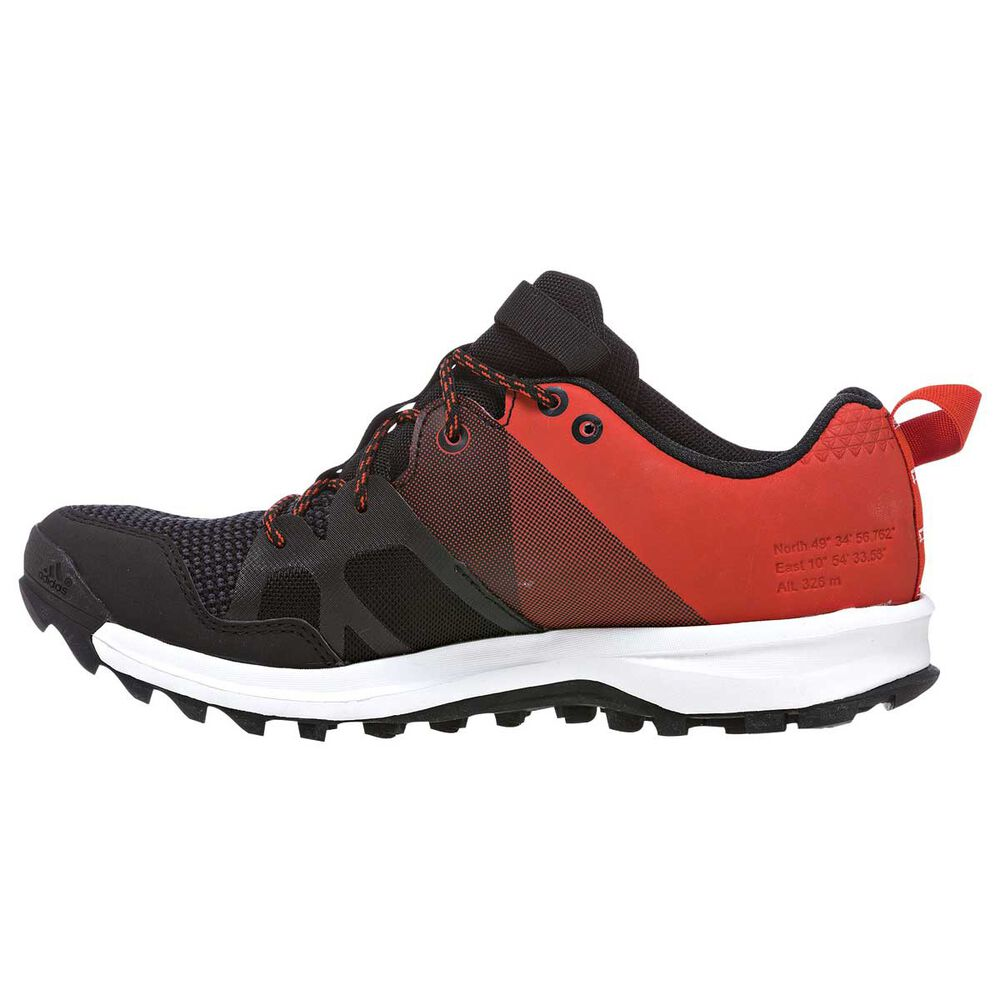 best service ff955 d2d4d adidas Kanadia 8 Boys Trail Running Shoes Black  Red US 4, Black  Red