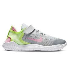Nike Free RN 2018 Kids Running Shoes Grey / Pink US 11, Grey / Pink, rebel_hi-res