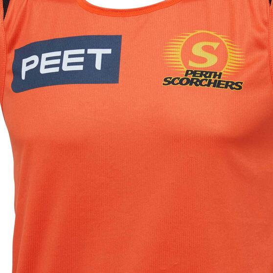 Perth Scorchers 2019/20 Mens Training Singlet, Orange, rebel_hi-res