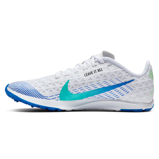 Nike Zoom Rival Waffle 2019 Womens Track Spikes, White/Crimson, rebel_hi-res