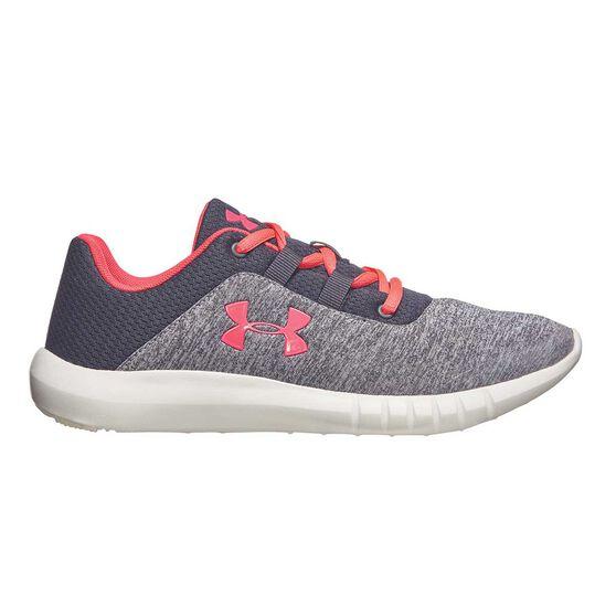 Under Armour Mojo Girls Running Shoes, Black / Pink, rebel_hi-res