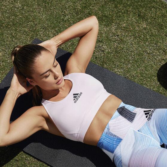 adidas Womens Don't Rest Alphaskin Padded Sports Bra, Pink, rebel_hi-res