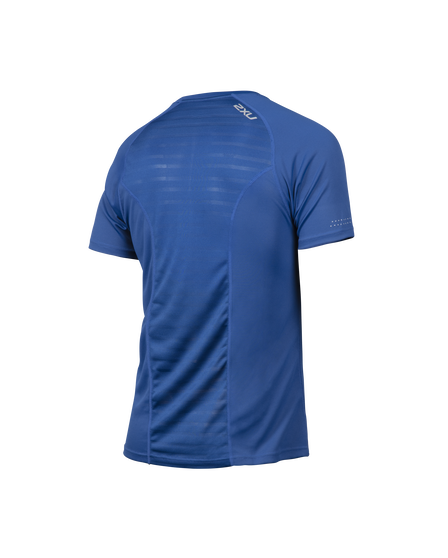 2XU Mens XVENT Short Sleeve Top, Blue, rebel_hi-res